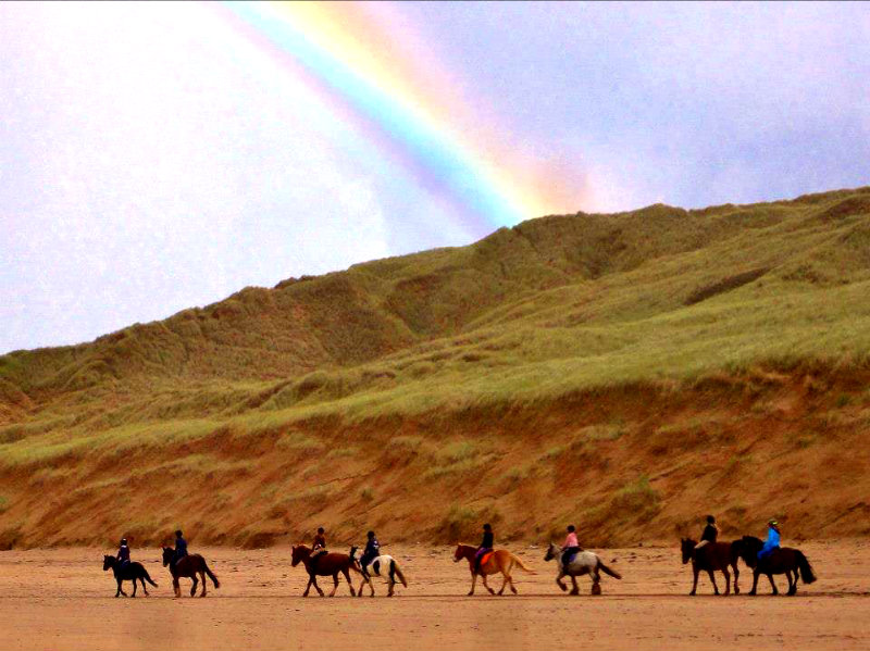 Rainbow beachride